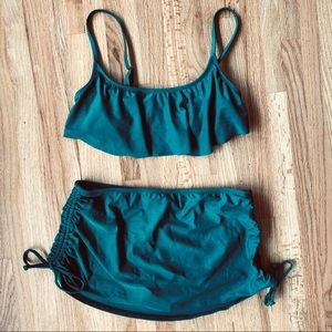 Emerald Green Skirted Bikini Set